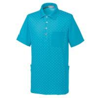 爽やかなドット柄。lecoqのロゴ刺繍入り。両脇には収納力たっぷりのポケット付き。